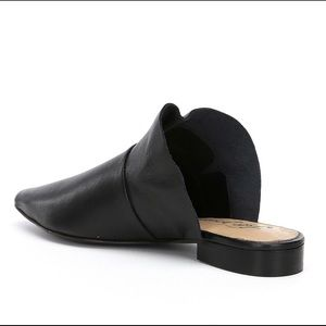 Free People Shoes - Free People black, leather, ruffle mules!